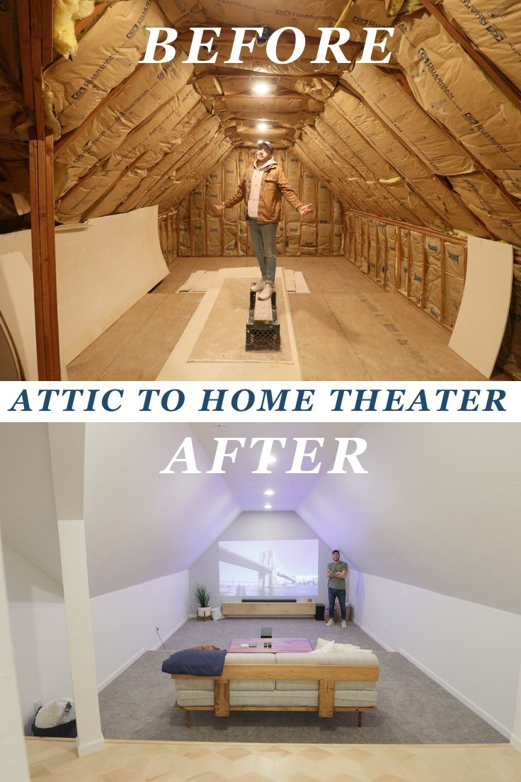 Attic To Home Theater Renovation Modern Builds In 2020 Home Home Theater Renovations
