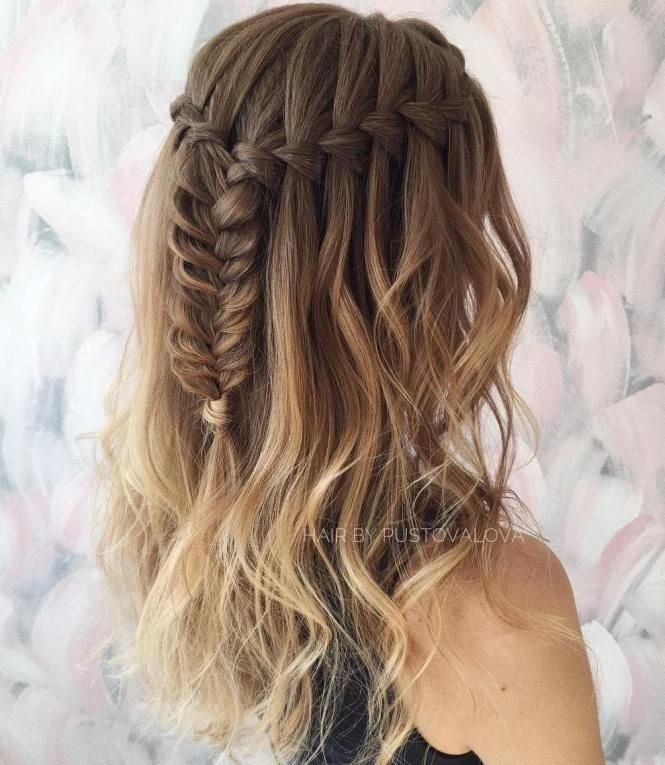 40 Flowing Waterfall Braid Styles In 2020 Waterfall Braid Hairstyle Braided Hairstyles Waterfall Braid Tutorial