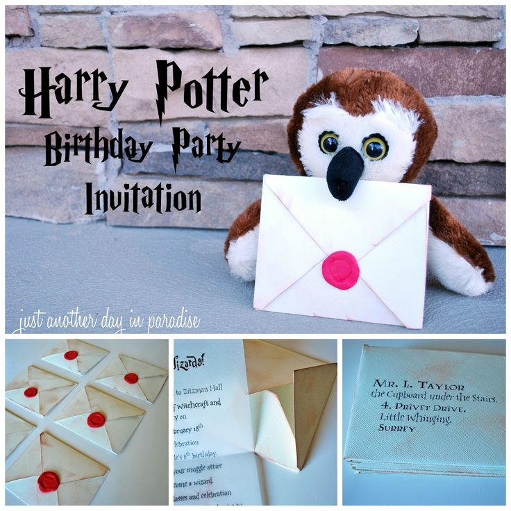 """Harry Potter birthday invites by """"Just another day in Paradise!"""" 