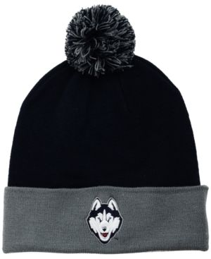 Top of the World Connecticut Huskies 2-Tone Pom Knit Hat - Blue Adjustable