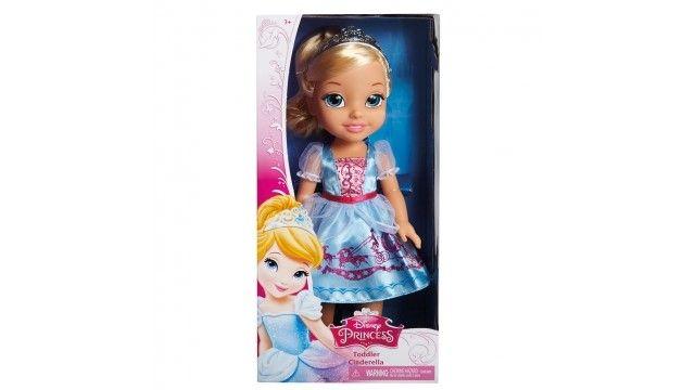 Disney Princess Pop Assepoester 35cm  Zorg als een echte mama voor een jonge Assepoester je favoriete prinses van Disney als kleuter. Borstel haar haar en zet haar tiara op. Afmeting ca. 35 cm.  EUR 37.95  Meer informatie