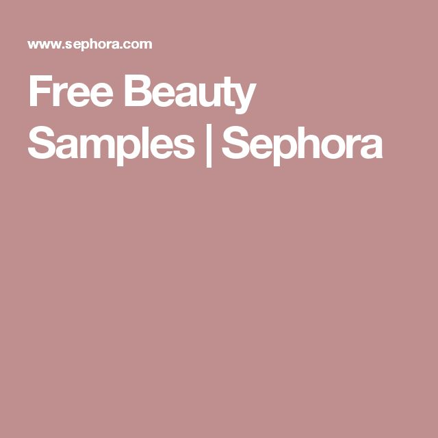 Free Beauty Samples | Sephora