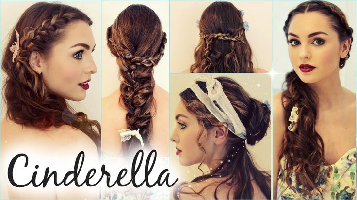 "Lily James as Cinderella ""Messy Maiden"" Hairstyles! Braids & Waves - Jac..."