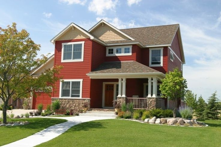 images of red house exteriors | love red houses