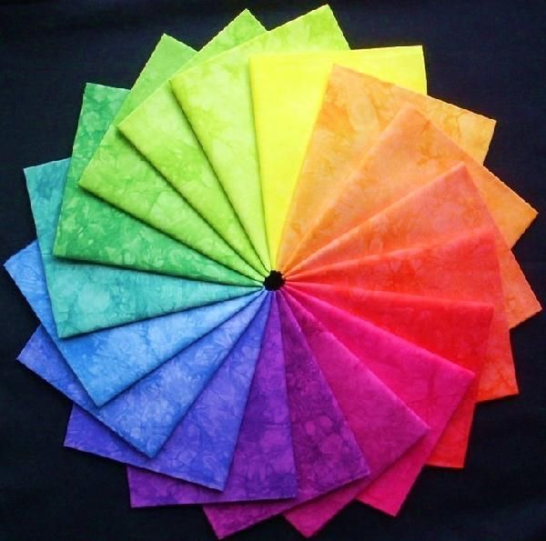 Color Wheel Composed of Cloth Squares: Beans Colorwheel, 18 Fat, Rainbow Colors, Jelly Beans