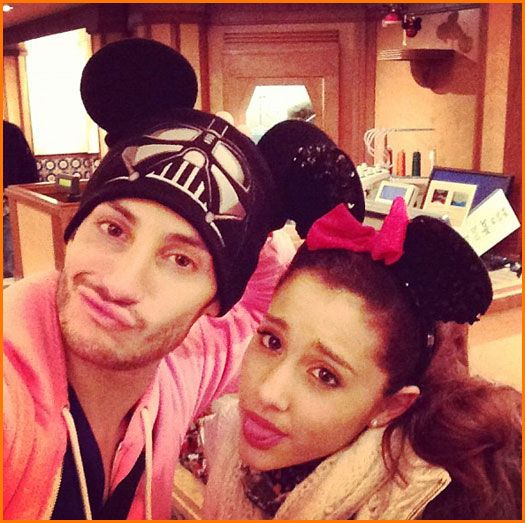 Ariana Grande And Frankie Grande Are At The Walt Disney World Resort January 19, 2013