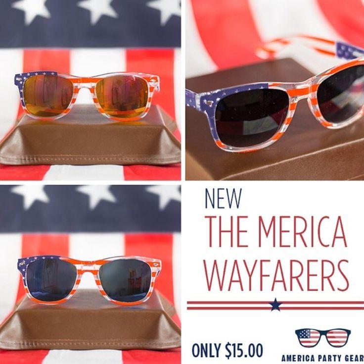 AmericaPartyGear.com has new Merica Wayfarers!
