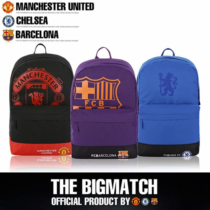 Manchester United Chelsea FC Barcelona Official backpack sport EPL bag BPS5S04 #Eon #Backpack