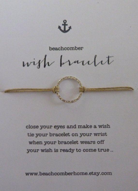 Beachcomber auguriamo Bracciale in cerchio karma braccialetto o cavigliera - ciò che accade intorno a viene intorno