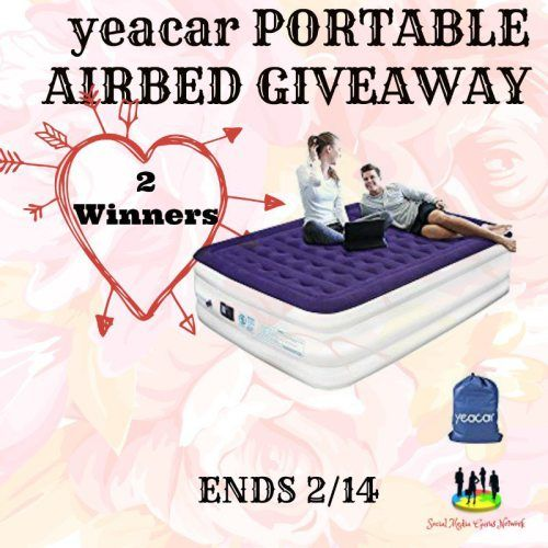2 WINNERS Portable Airbed #Mattress #Giveaway Ends 2/14 #Win #Bedding #Bed #Bedroom #ContestAlert #prize https://www.sweetsouthernsavings.com/portable-airbed-mattress-giveaway/