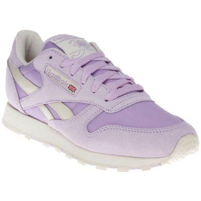 ... best price reebok classic leather pastel v45287 womens laced suede  trainers purple fd5ff 9def1 e6a6ad9c3