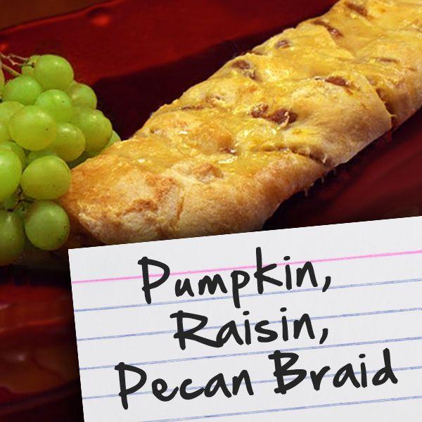 Recipes for Diabetes: Pumpkin, Raisin, Pecan Braid