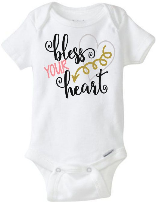 Bless Your Heart Onesie Baby Girl Toddler Tshirt Arrow Southern Sayings Mama Said Mama Tried Manners Hospitality  by JustSouthernDzignz