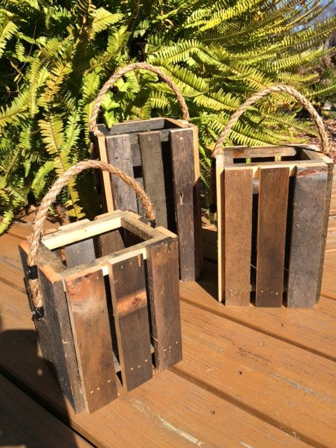 Rustic Shed Heads is offering a Rustic Pallet Lantern Candle Holder in a set of 3.  The Rustic Pallet Lanterns measurements are as follows:  Large Lantern is estimated 12 inches tall x 6 inches wide . Medium Lantern is estimated 10 inches tall x 6 inches wide. Small Lantern is estimated 7 inches tall x 6 inches wide.  Every Lantern is hand made by my husband and then I add the final touches to make it irresistible!! These particular Lanterns have nautical rope for the handle and then sprayed…