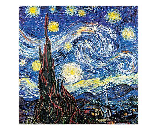 """Stampa su pannello in mdf Notte stellata dettaglio - 30x30x1.8 cm 29 € Riproduzione su pannello in mdf di un soggetto d'autore. Vincent Van Gogh  La lavorazione prevede un montaggio su Medium Density (Categoria """"E1"""", a basso contenuto di formaldeide). L'immagine viene accoppiata al pannello in pressa a caldo con colla bicomponente; poi verniciata con un gel che dona protezione, lucentezza e risalto ai particolari. Garantiti per arredamenti d'interni e fotoprotetti."""