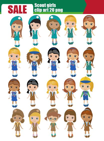 Girl Scout Clip Art Clipart - Free Clipart