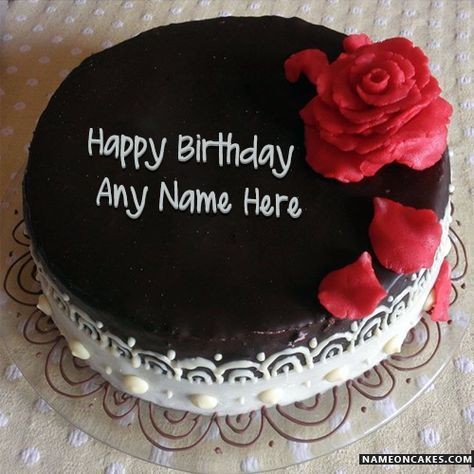 Cool Black Forest Cakes For Birthday With Name