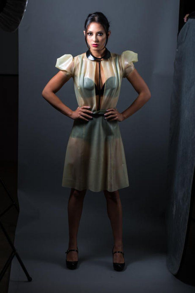 Buy Transparent Latex Dress by Ammunition Couture at I Am Attitude