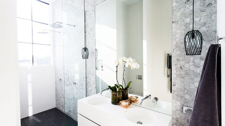 In Pictures: Darren and Dee's 'calming' ensuite   The Block Glasshouse   9jumpin