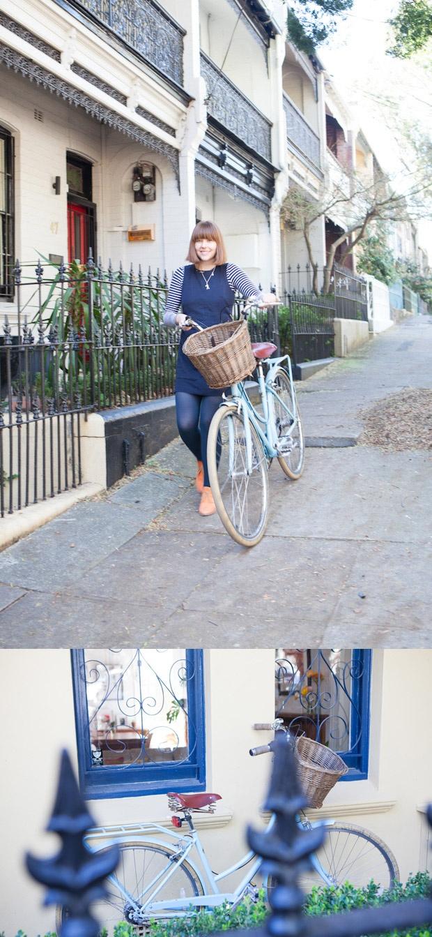 Homes interiors inspiration - Claire Yvonne Evans - Ashka interview #homes #interiors #inspirations #creative #sydney #australia #girls #womens #bike #bicycle #paddington