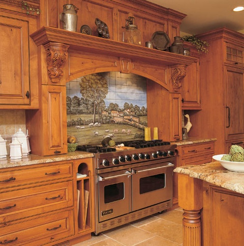 Kitchen Cabinets Edmonton: I Like The Backsplash ! Superior Woodcraft Custom Rustic