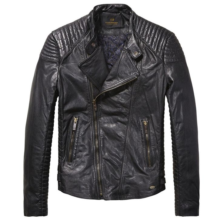 SCOTCH & SODA - Leather Biker Jacket - Antra