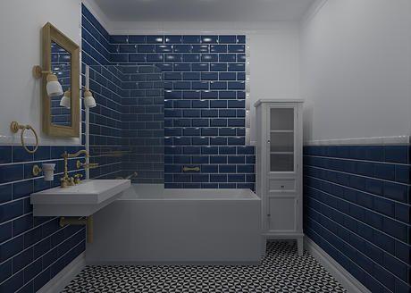 Дизайн ванной комнаты в классическом стиле #rostovondon #interiordesign #bathroom annayashinadesign.com