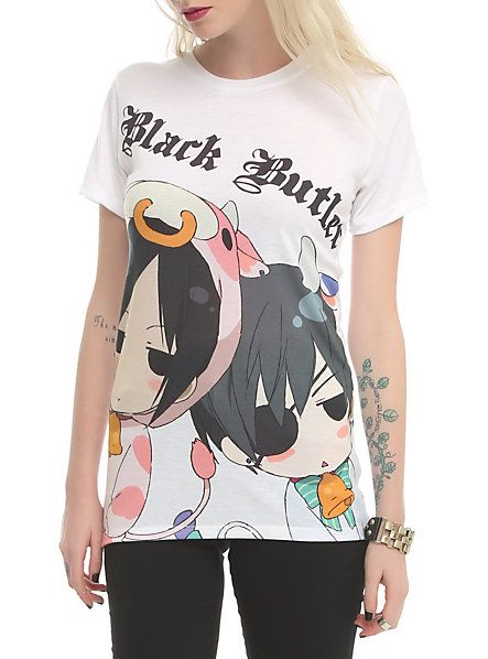 Black Butler Chibi Cow Duo Girls T-Shirt | Hot Topic I need this