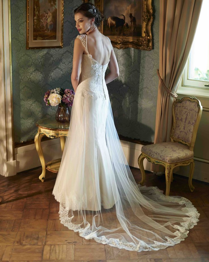 We can't believe we actually have a sample of the Marion gown for SALE! This is a rare find!