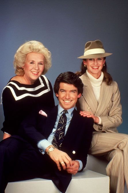 Remington Steele - (1982-87). Starring: Pierce Brosnan, Stephanie Zimbalist. Doris Roberts, Janet DeMay, James Read, Jack Scalia and Beverly Garland.