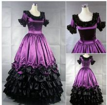 Costumi di halloween per le donne adulte southern victorian dress ball gown gothic lolita dress plus size misura(China (Mainland))