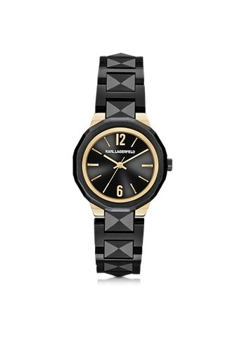 Karl+Lagerfeld+Joleigh+Black+Iconic+Women's+Watch