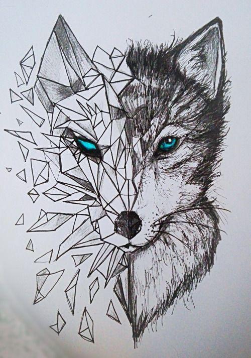 Resultado de imagen para cara de leopardo geometrico tattoo