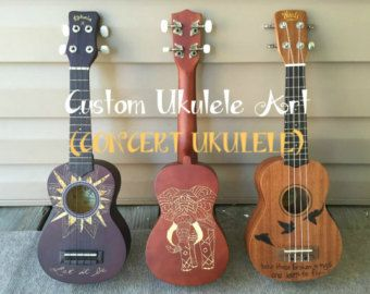 Custom Ukulele Art Tenor Ukulele by LirenzaNoelleArt on Etsy