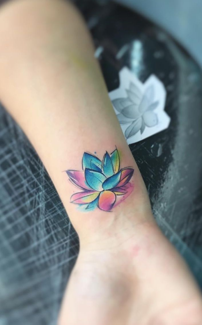 Stunning Watercolor Tattoos By Adrian Bascur Watercolor Lotus
