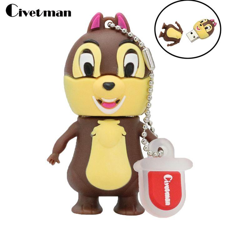 Cute usb flash drive Squirrels pendrive 32gb 16gb pendrive 8gb memoria usb stick 4gb usb2.0 memory stick #Affiliate