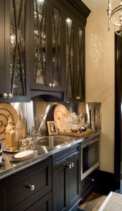 Joy Tribout   Kitchens   Butleru0027s Pantry, Glass Front, Black, Cabinets,