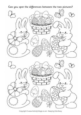 Easter Spot the Difference 2