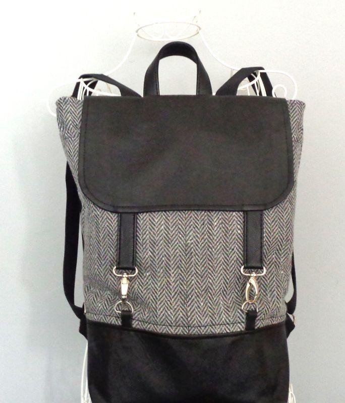 Gri,siyah sırt çantası Zet.com'da 110 TL