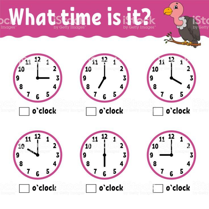 clock worksheet for kindergarten Google Search in 2020