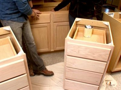 How to Create a Custom Vanity from Stock Cabinets : How-To : DIY Network