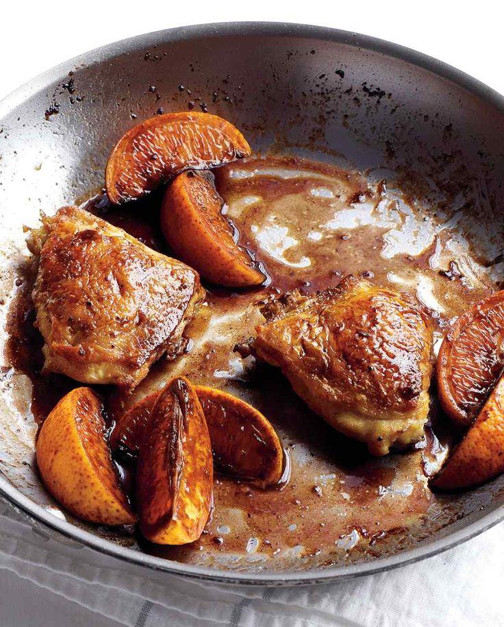 Carne de pollo asada lenta