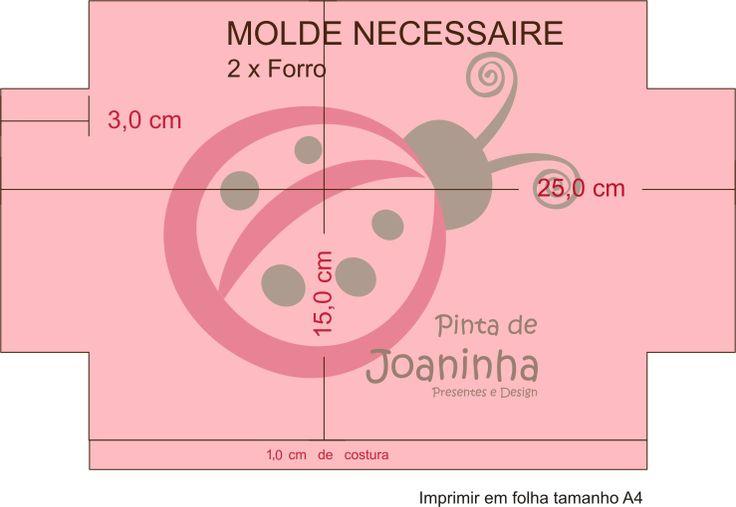 PINTA DE JOANINHA: Moldes Necessaire