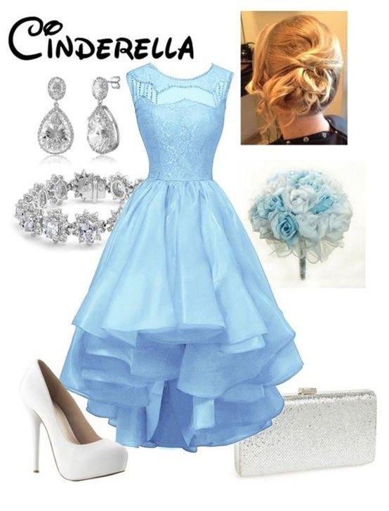 Royal Blue Cinderalla Homecoming Dress, High-Low Mini Dress,Sleeveless Homecoming Dress