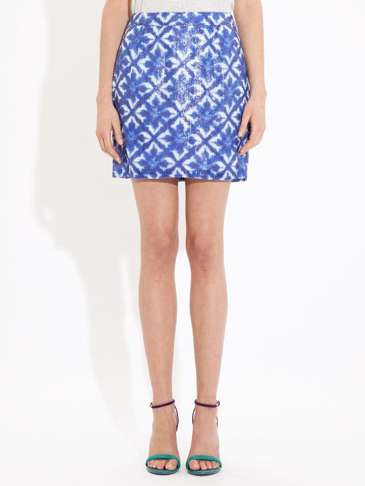 Tile Print Sequin Skirt from Portmans