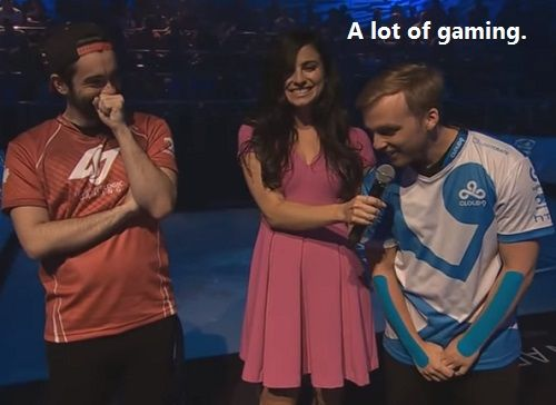 Girl Interviewer Asks A Gamer About His Sore Forearms. You have sore forearms?…