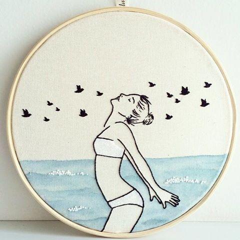 Espuma do mar em nó francês - Clube do Bordado                                                                                                                                                                                 Mais