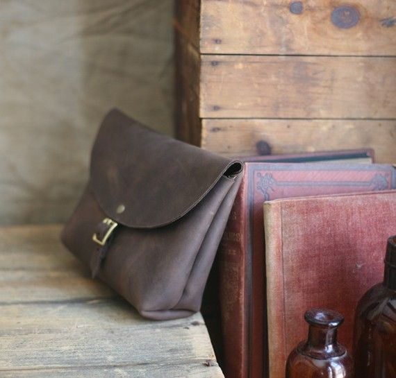 Buckled Leather Utility Pouch - Forestbound Etsy