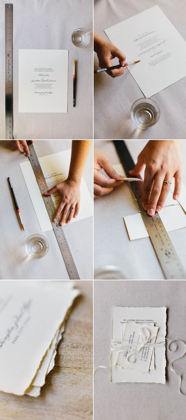 DIY Faux Deckled Edge Paper
