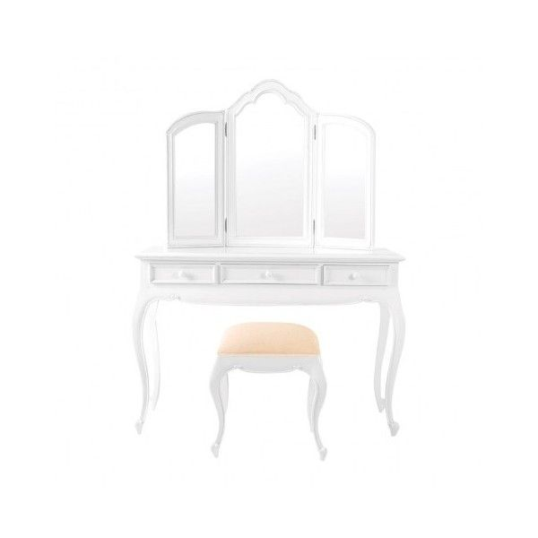 Amelie French White Dressing Table Stool ❤ liked on Polyvore featuring home, children's room and children's furniture